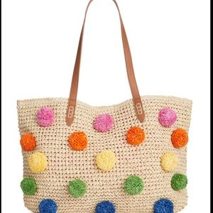 INC International Concepts Multicolor Straw Tote